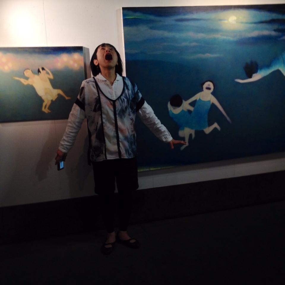 2013芦屋画廊賞 ササキ永利子さんの個展にて