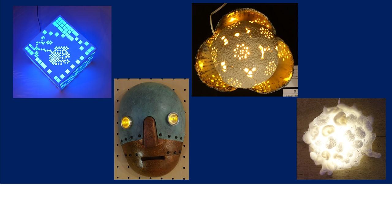 左から2番目の仮面?の目はチラチラと光っていた。キットハウスさんのページを見て欲しい。