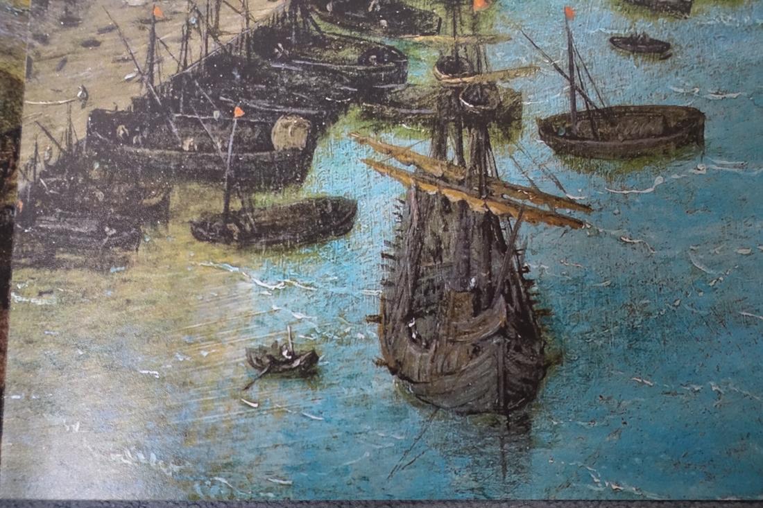 何がすごいって、すごいよ。前の写真の右下の舟を拡大したこれも図録写真。緻密。