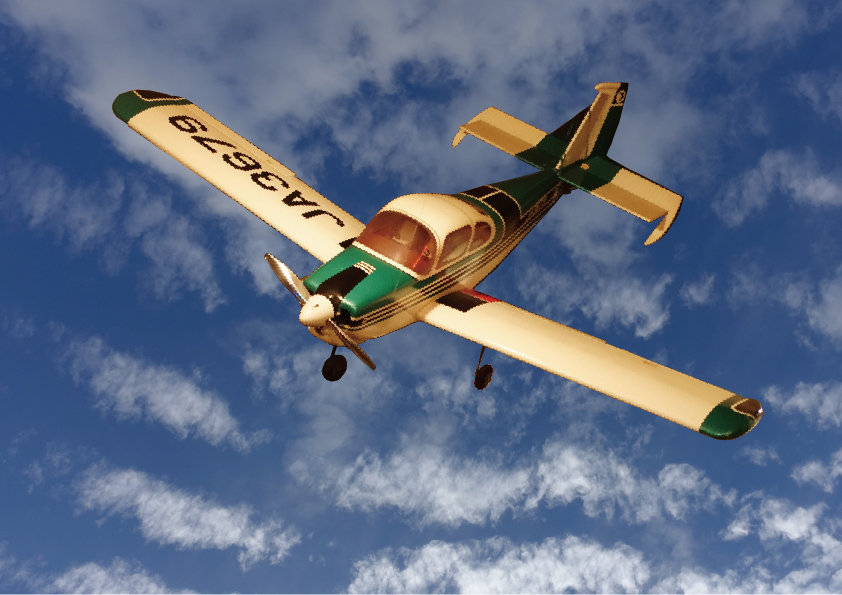 青空を飛ぶ JA3679