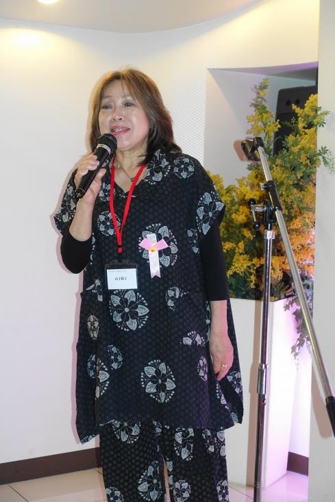 表彰式・懇親会のスタートは主催者あいさつ 山下裕子