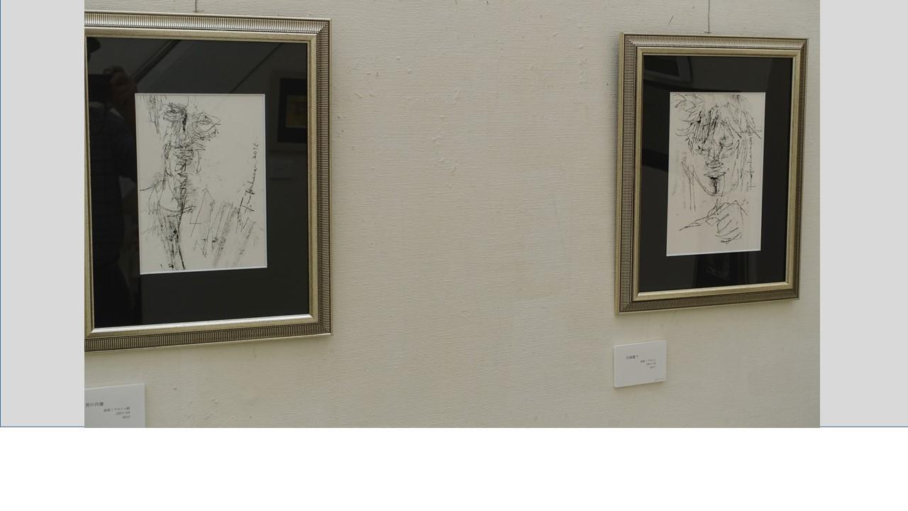 左「男の肖像」 右「自画像?」
