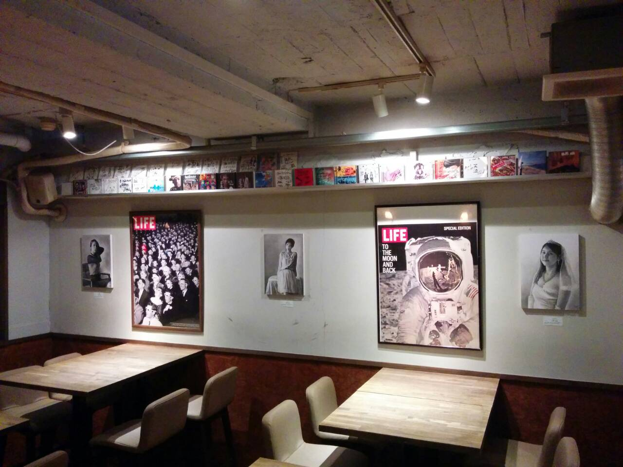 鉛筆画アーティスト:江副拓郎さん作品展示 大阪市西区ダイニングバーにて