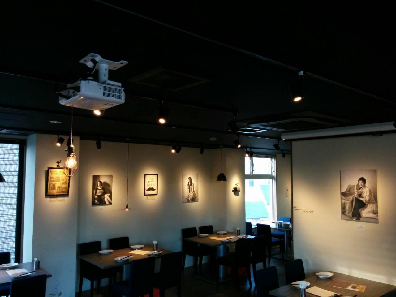 鉛筆画アーティスト:江副拓郎さん作品展示 大阪市福島区イタリアンにて