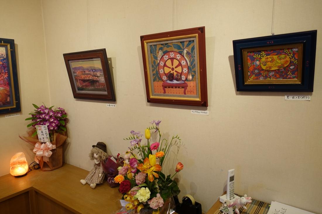 アートムーブコンクール2014京橋画廊賞 杉山三枝子個展の様子