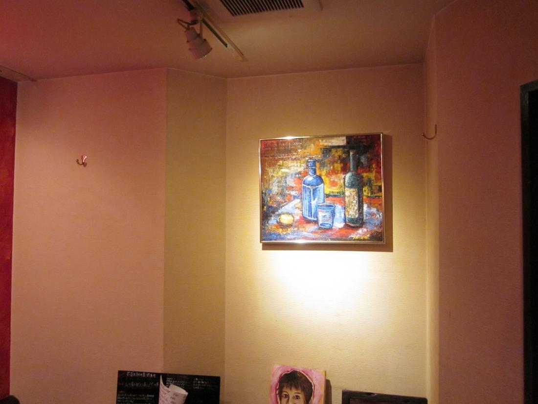 油彩アーティスト:安村浩史さん作品展示 大阪市西区 イタリアンレストランにて