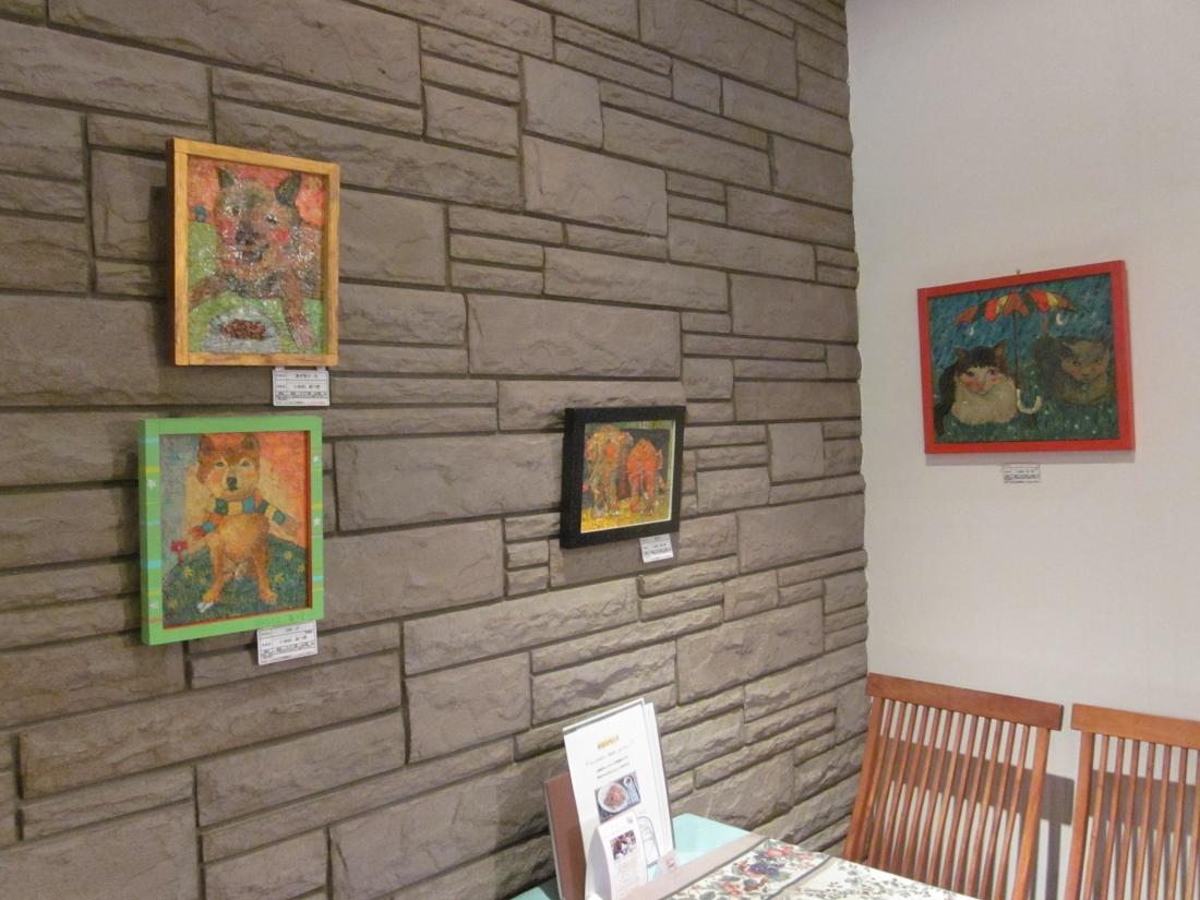 油彩アーティスト:いかわあつきさん作品展示 奈良県奈良市ドックカフェにて