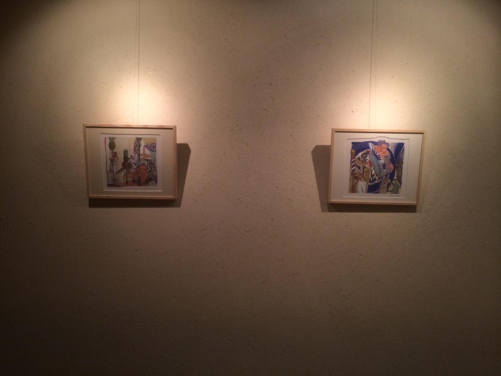 イラストレーター:えんどうひとみさん作品展示 兵庫県神戸市灘区 音楽ホールにて