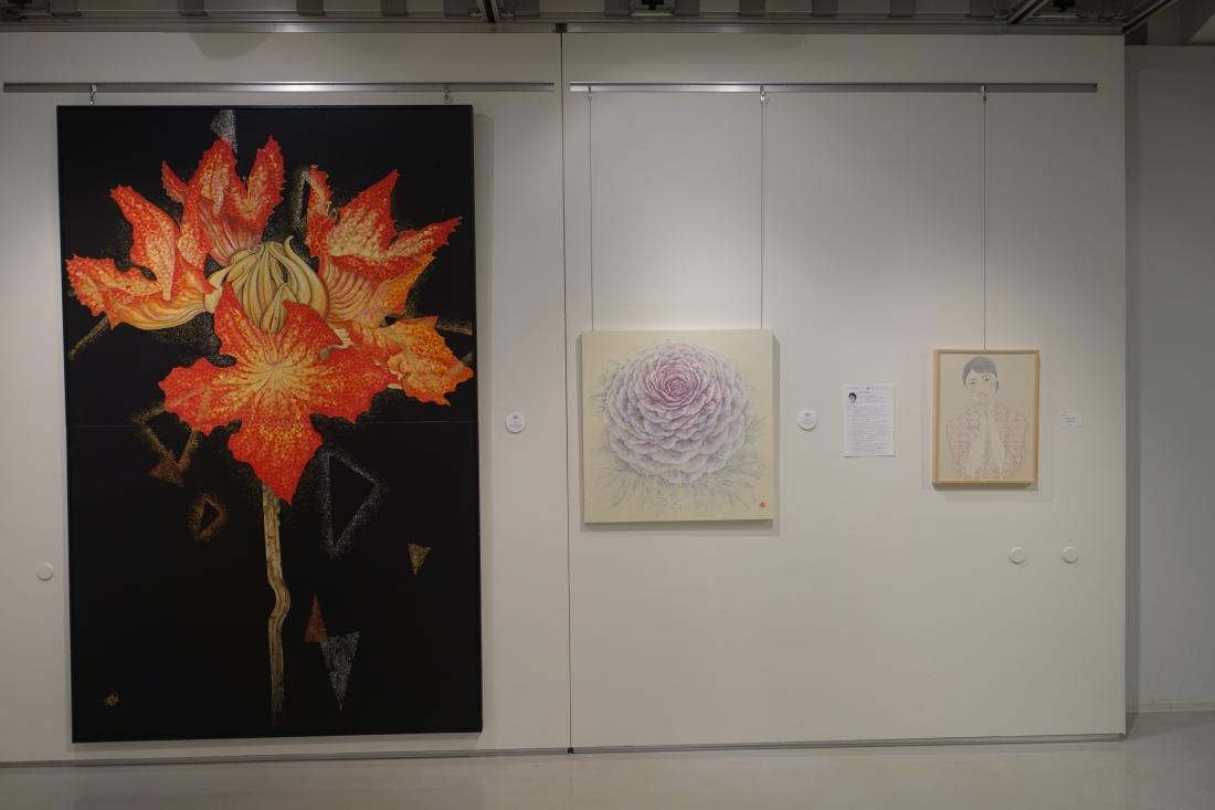 日月美輪さんの作品。右端が2014アートムーブコンクール大賞受賞作品
