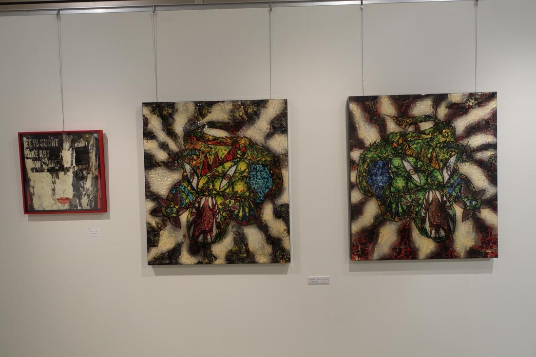 Monzo 渡邉さんの作品。左端が2012アートムーブコンクール大賞受賞作品