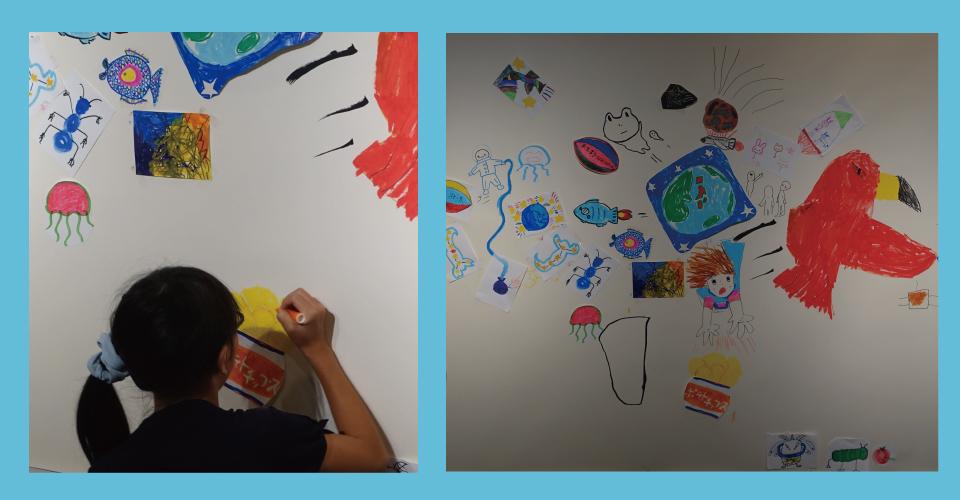 ポテトチップスの絵を描いてくれました。来年アートムーブで会えるといいな。