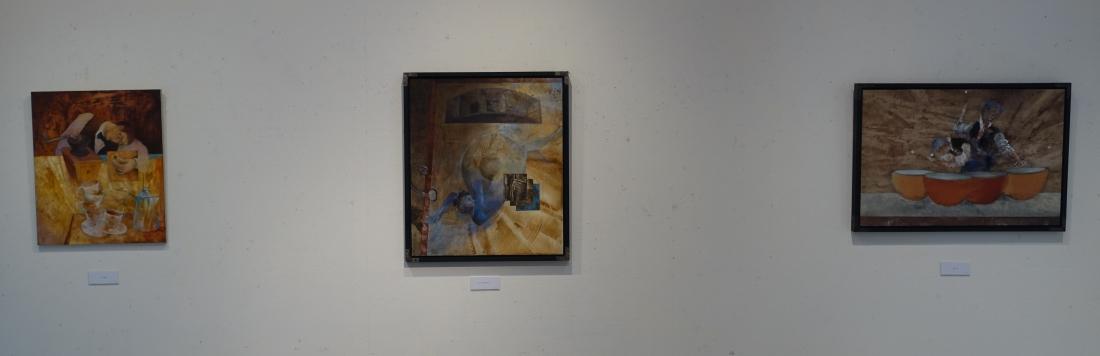 まん中が第20回アートムーブコンクールギャラリーいろはに賞受賞「セルラ・フォーン」