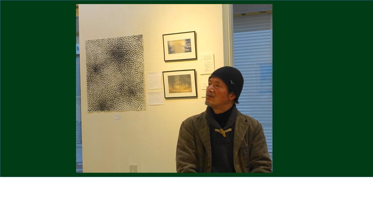 林さんです。作品は左側。2013年の大賞作家。風をテーマに。