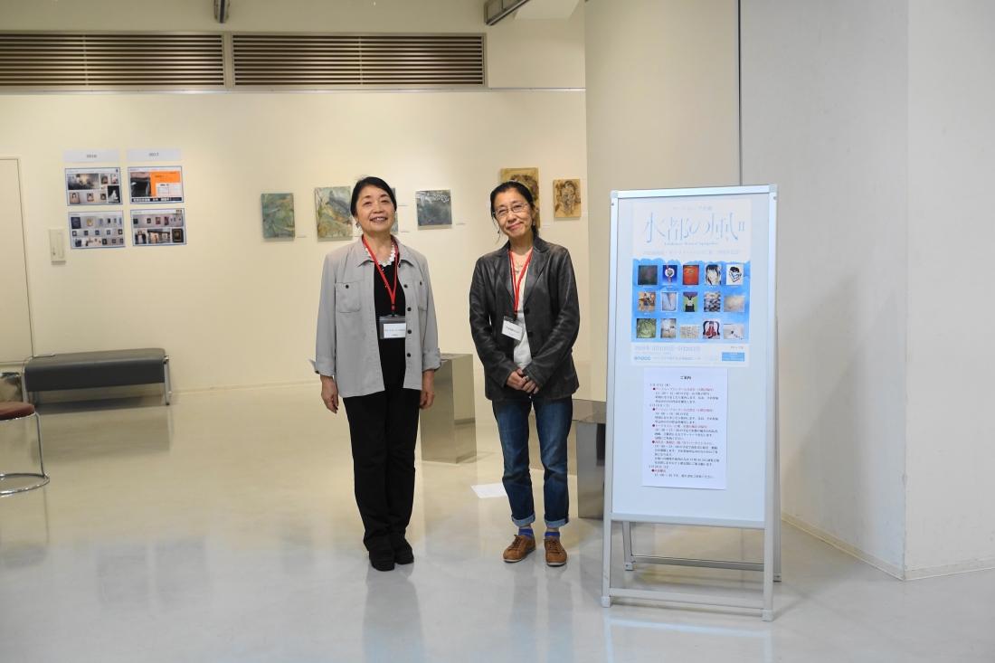 左:ギャラリーいろはに 北野庸子さん 右:芦屋画廊kyoto 北川祥子さん