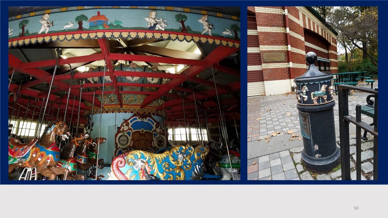 1908年につ作られたセントラルパークの回転木馬(ヒロ)